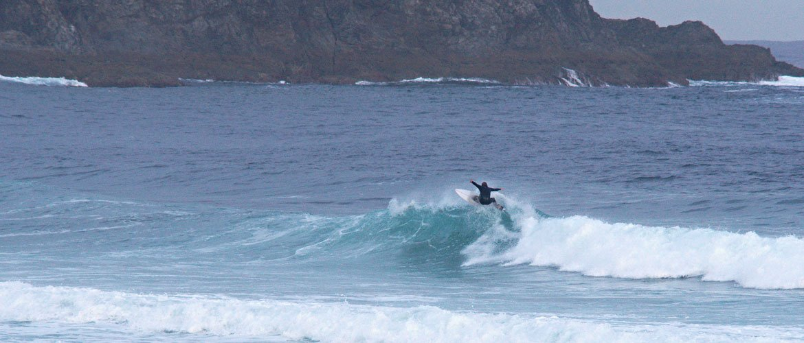 Camino Surfcamp Spain Galicia Lip Floater in Pantin Surfing Wave