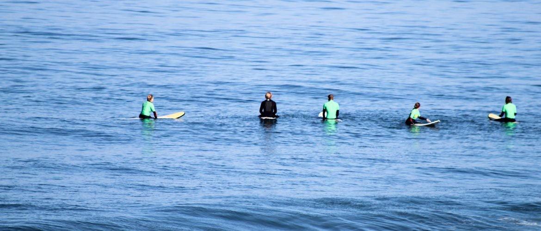 Camino Surfcamp Marokko Surfschool Water Sitting Waiting