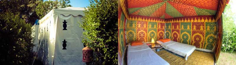 glamorous camping in the Glamping Temples in Galicia