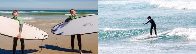 Camino Surfcamp Kidscourse Surfing Smiling