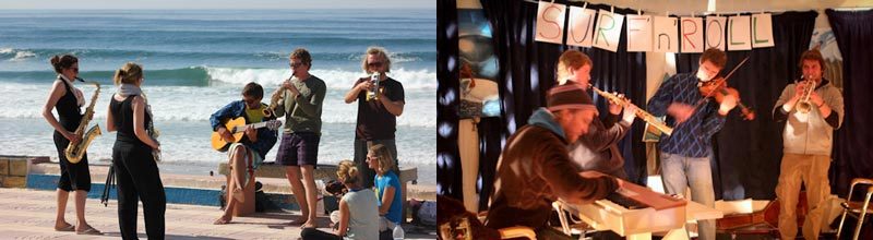 Camino Surfcamp SurfnRoll Musicians Ocean Jamsession DE